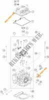 CYLINDER HEAD  for KTM 390 DUKE WHITE ABS 2013