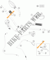 HANDLEBAR / CONTROLS for KTM 390 DUKE WHITE ABS 2013