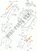 PLASTICS for KTM 390 DUKE WHITE ABS 2013