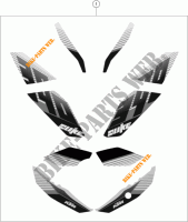 STICKERS for KTM 390 DUKE WHITE ABS 2013