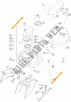 TANK / SEAT for KTM 390 DUKE WHITE ABS 2013