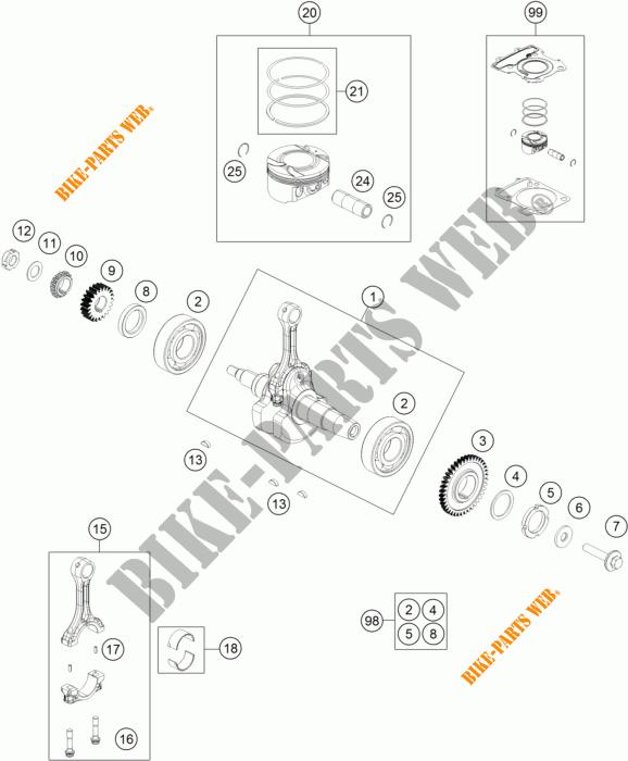 Crankshaft    Piston For Ktm 200 Duke Black 2017   Ktm