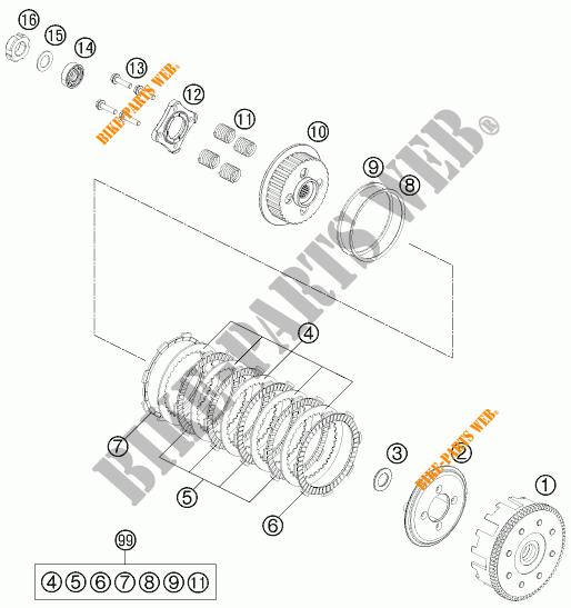 Clutch For Ktm 200 Duke Orange 2016   Ktm