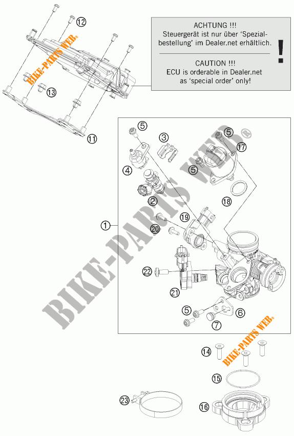 Throttle Body For Ktm 200 Duke Orange Abs 2013   Ktm