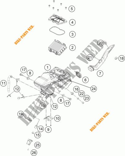 Air Filter For Ktm 125 Duke Orange 2017   Ktm