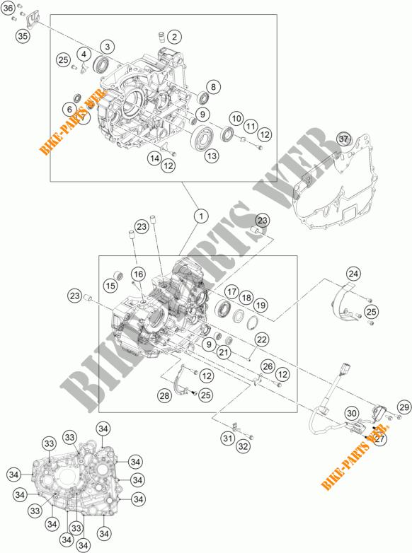 Crankcase For Ktm 125 Duke Orange 2017   Ktm