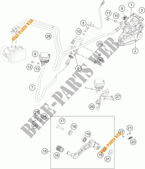 Rear Brake Caliper For Ktm 125 Duke Orange Abs 2013   Ktm