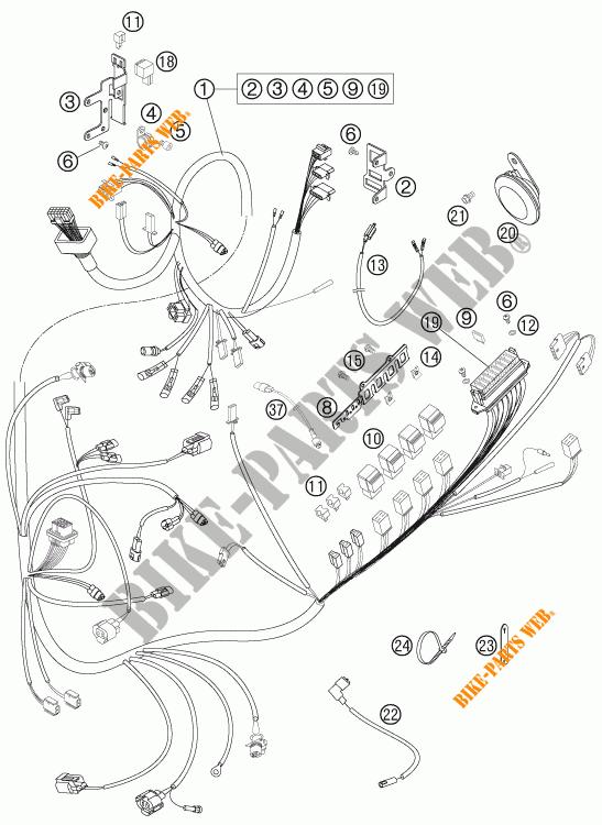 wiring harness for ktm 950 super enduro r 2007   ktm