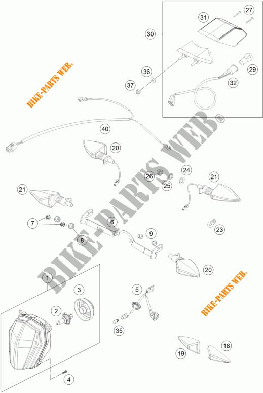 Headlight    Tail Light For Ktm 690 Enduro R Abs 2016   Ktm